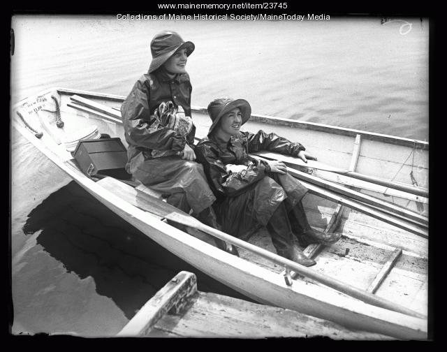 In the dory, Wiscasset, 1926
