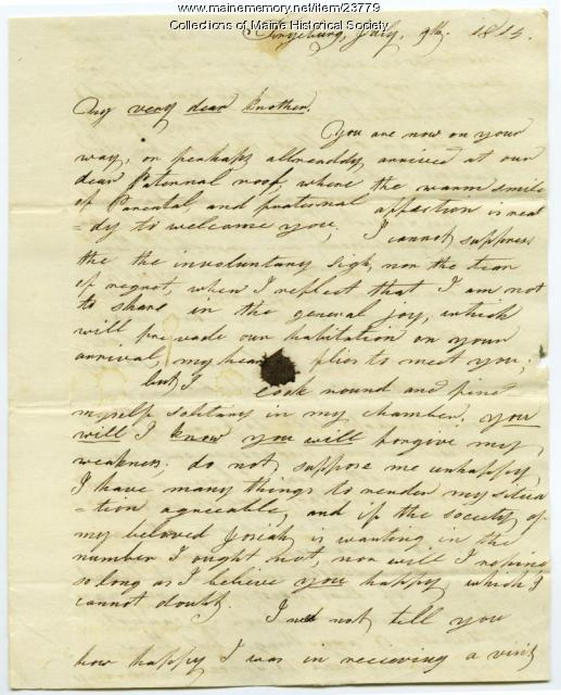 Hannah Pierce to brother, Fryeburg, 1814