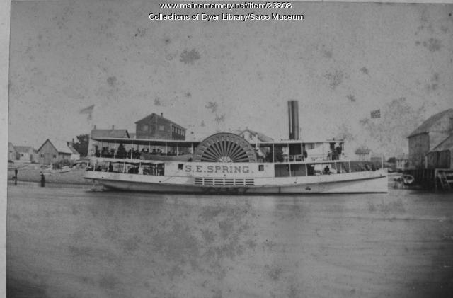 Steamer S.E. Spring, ca. 1890
