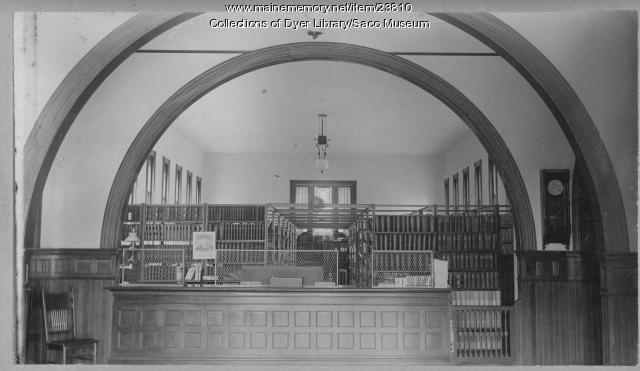 Old Dyer Library Shelf Stacks, ca. 1900
