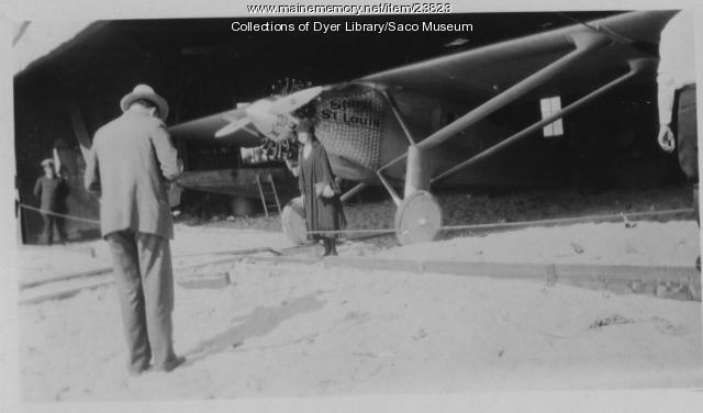 Spirit of St. Louis in the Hangar at Old Orchard Beach, 1927