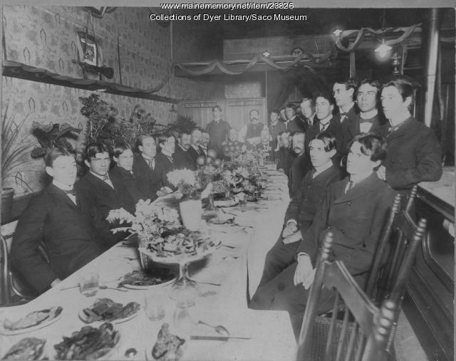 York County Wheelmen's Banquet, Saco, ca. 1890