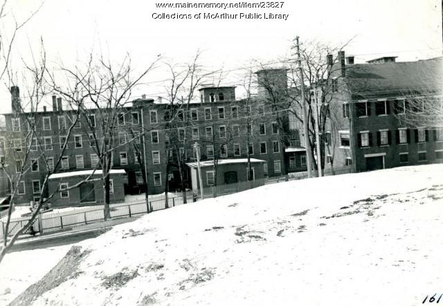 A view of the York Mills in Saco, ca. 1908