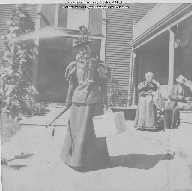 Almira Locke McArthur, Saco, 1896