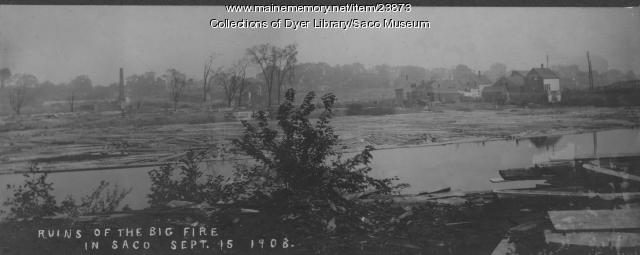 Ruins from Saco Fire, Saco, 1908