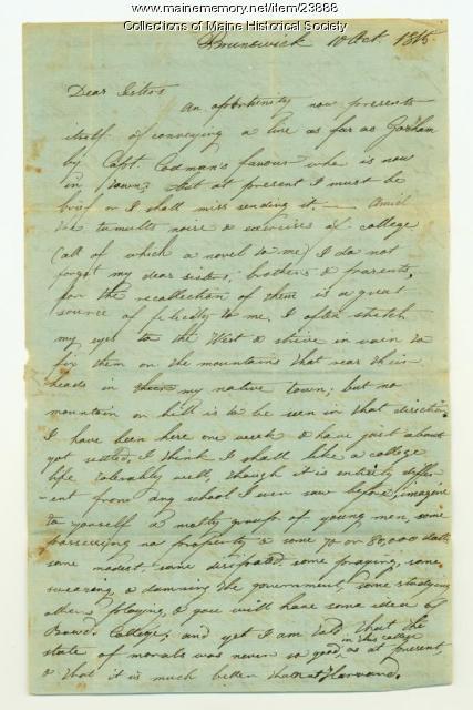 Description of college schedule, Brunswick, 1815