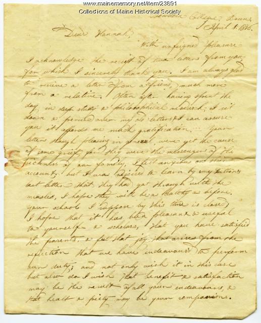 Letter about suicide, Topsham, 1816