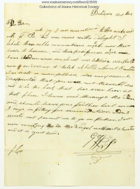 George Pierce to Josiah Pierce on examinations, Baldwin, 1818