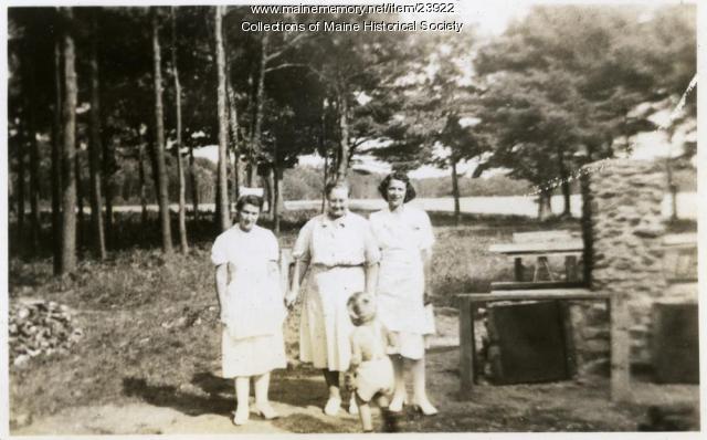 Staff members, Pownal State School, 1941