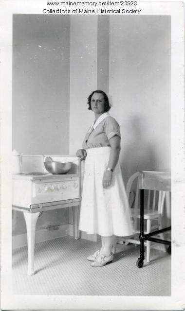 Maybelle Finley, Pownal State School, ca. 1940