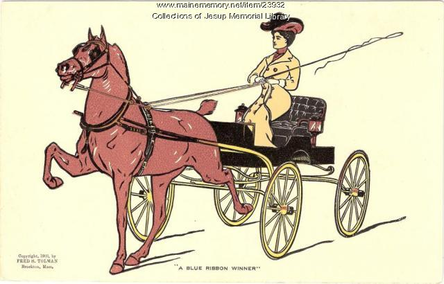 Postcard of carriage, ca. 1903