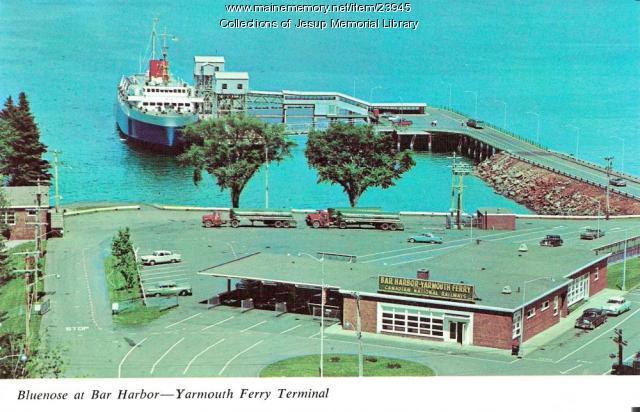 Maine Memory Network Bluenose Bar Harbor Ferry Terminal
