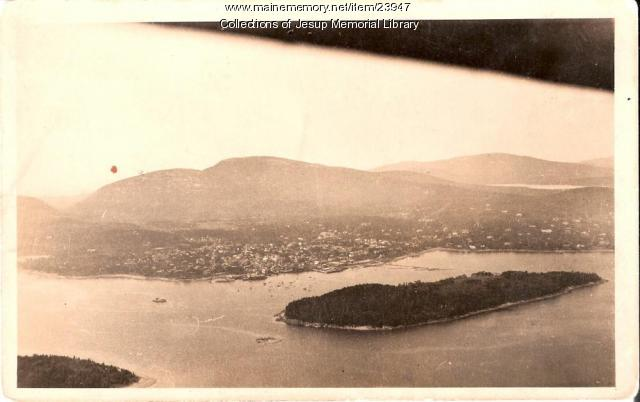 Bar Harbor from the air, ca. 1930