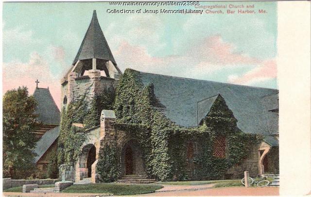 Congregational Church and Episcopal Church, Bar Harbor ca. 1910