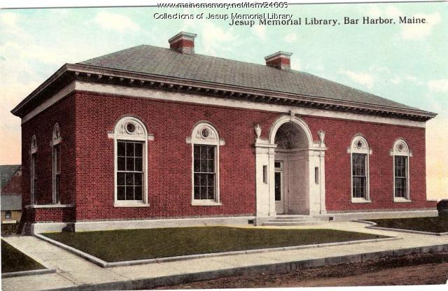Jesup Memorial Library, Bar Harbor, ca. 1920