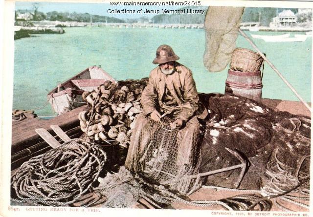 Maine lobsterman, 1905