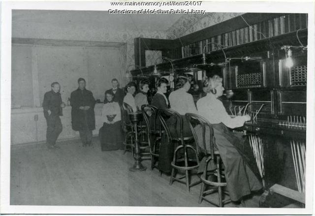 Staff of Biddeford Telephone Exchange, ca. 1900