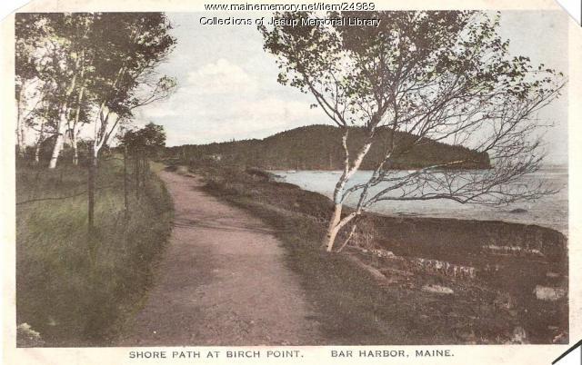 Shore Path, Bar Harbor, ca. 1915