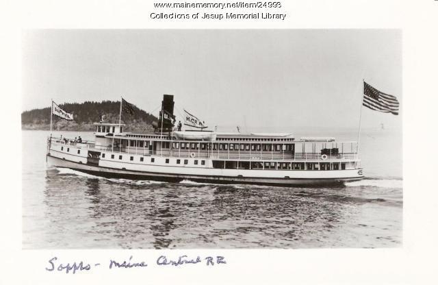 Steamer Sappho, Mt. Desert Island, ca. 1940