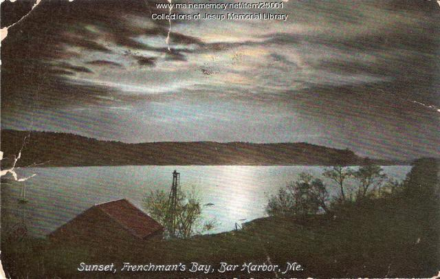 Sunset, Frenchman's Bay, Bar Harbor ca. 1910