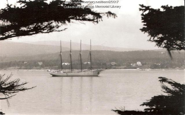 Vista of a Four Master, Mount Desert Island, ca. 1940