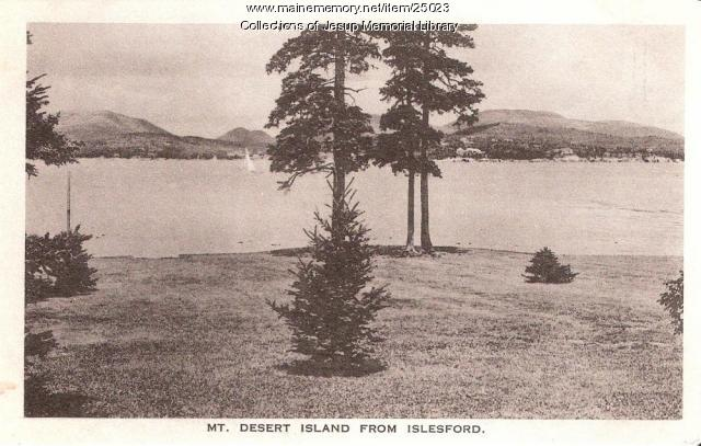 Mt. Desert Island from Islesford, ca. 1915