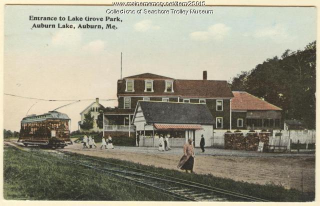 Entrance to Lake Grove Park, Auburn, ca. 1900