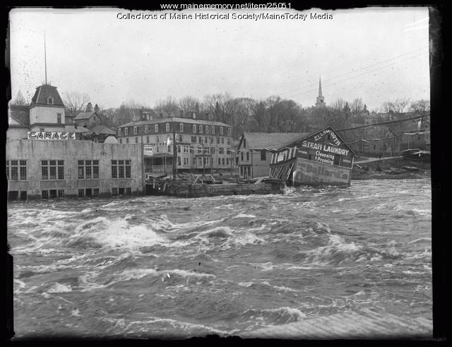 Union River flood, Ellsworth, 1923
