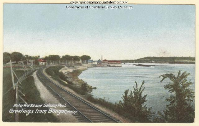 Water Works and Salmon Pool, Bangor, ca. 1900
