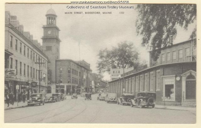 Main Street, Biddeford, ca. 1920