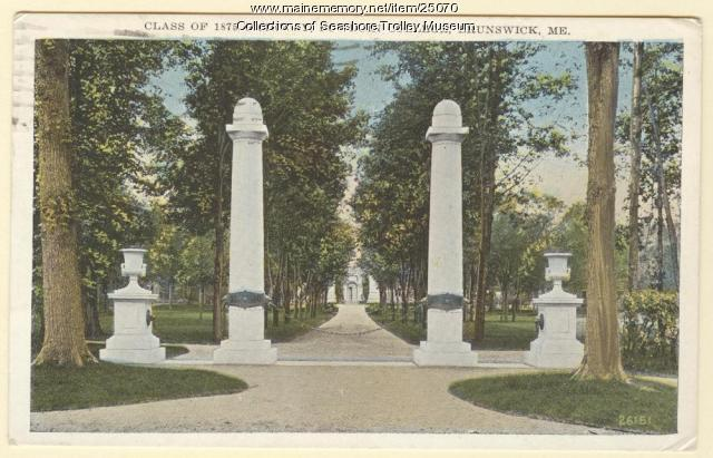 Class of 1875 Gateway, Brunswick, ca. 1929