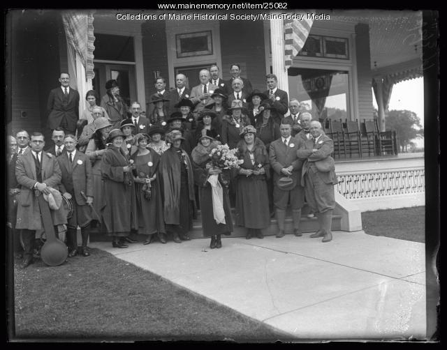 Miss Portland and Rotary Club, Poland Spring, 1923
