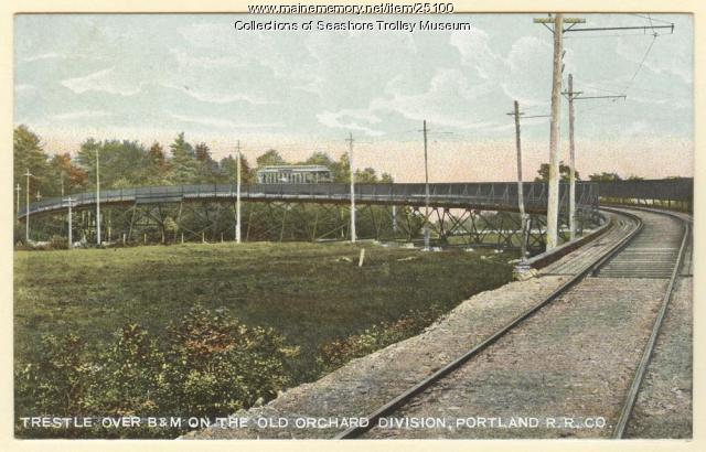 Trestle on the Old Orchard Division, ca. 1906