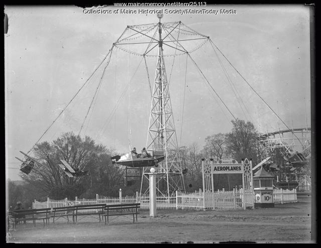 Airplane swings, Riverton Park, Portland, 1924