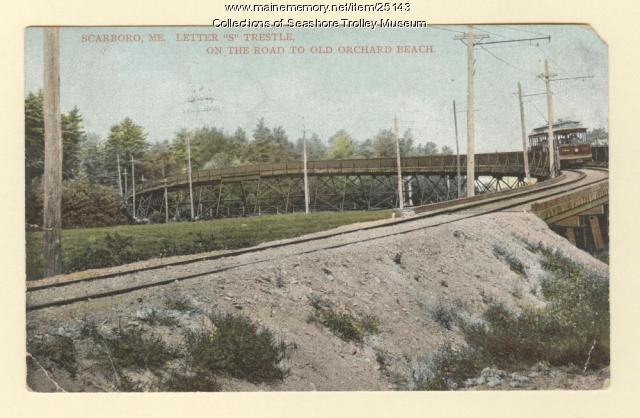 Trolley car in Scarboro, ca. 1908