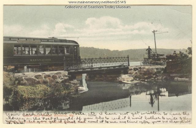 Upper Dam Bridge, Winthrop, ca. 1906