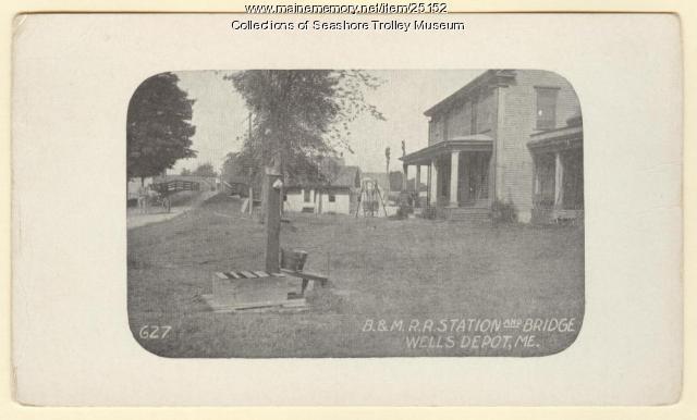 Wells Depot, Wells, ca. 1910