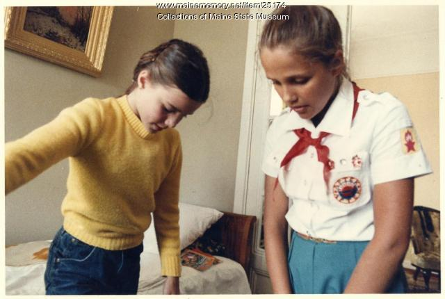 Samantha Smith and Natasha Kashirina, Leningrad, 1983