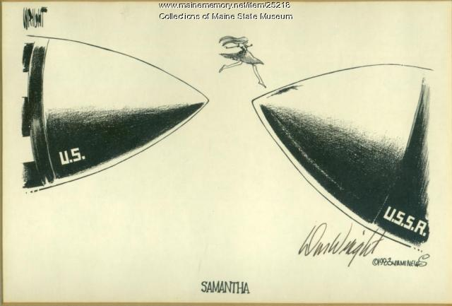 Wright cartoon on Samantha Smith, 1983