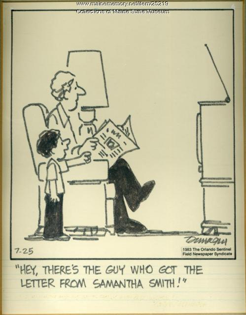 Dunagin Samantha Smith cartoon, 1983
