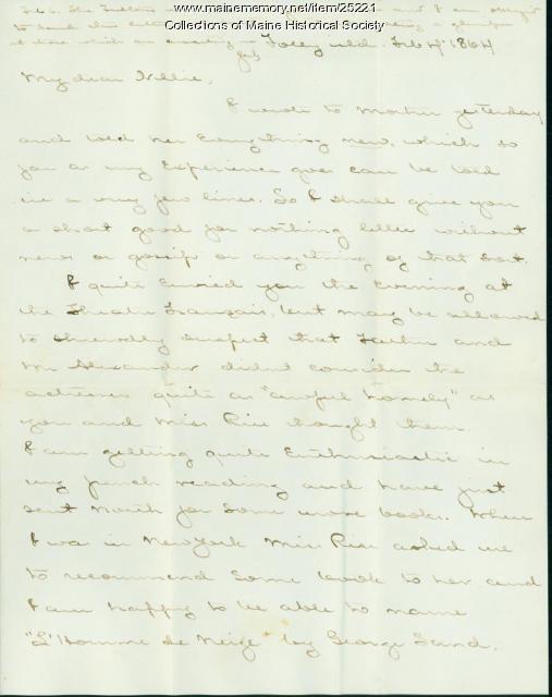 John Marshall Brown to sister, 1864