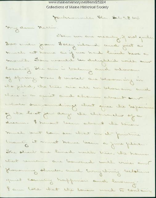 J.M. Brown letter from Jacksonville, 1864