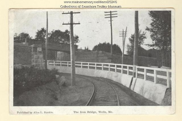 The Iron Bridge, Wells, ca. 1907