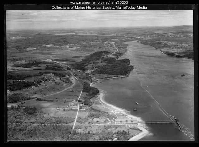 Aerial photograph, Stockton Springs, ca. 1930