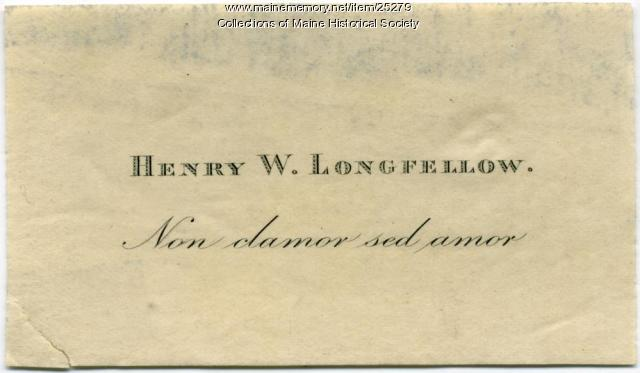 Longfellow bookplate, ca. 1875