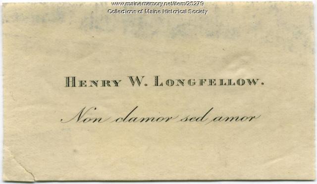 Longfellow bookplate, ca. 1875