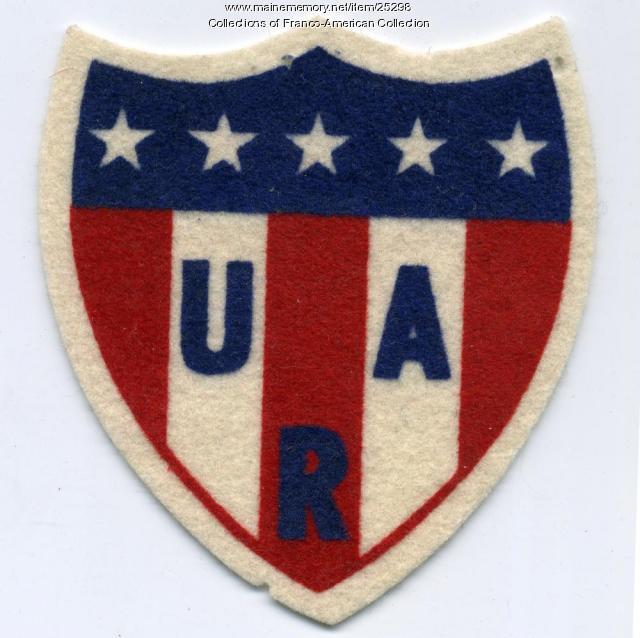 Snowshoe union patch, ca. 1950
