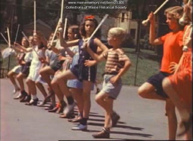 Film of baton twirling in Portland, ca. 1940