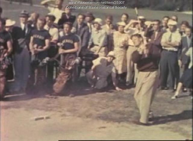 Film of golf tournament at Riverside, Portland, ca. 1940