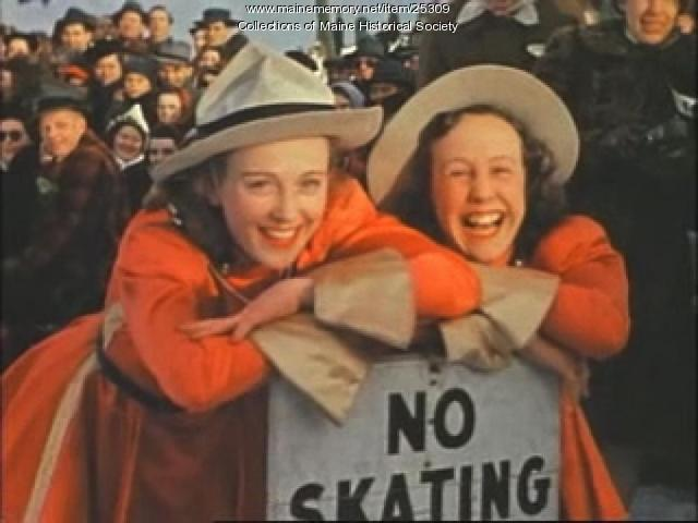 Film of skating, Portland, ca. 1940